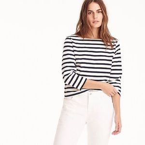 J crew striped boatneck